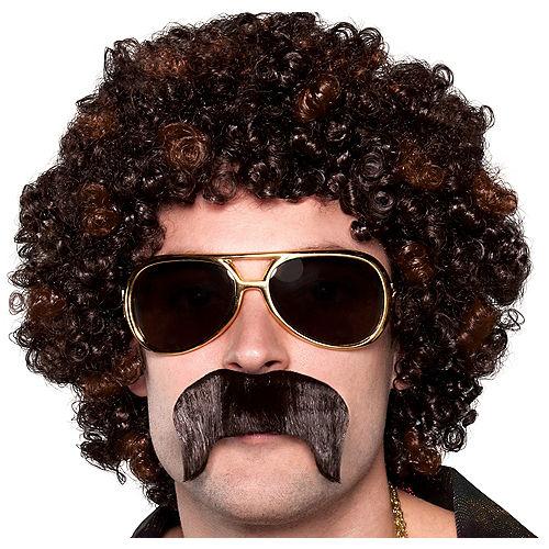 70s Disco Dirt Bag Wig & Moustache Image #1