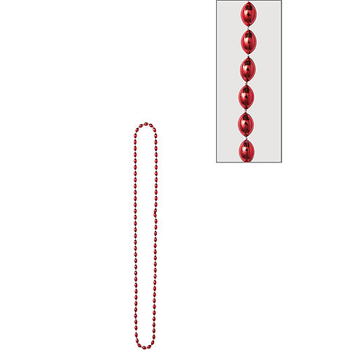 Metallic Red Bead Necklace Image #1