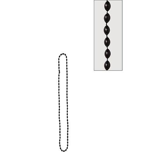 Metallic Black Bead Necklace Image #1