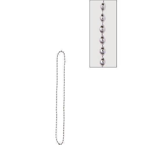 Metallic Silver Bead Necklace Image #1