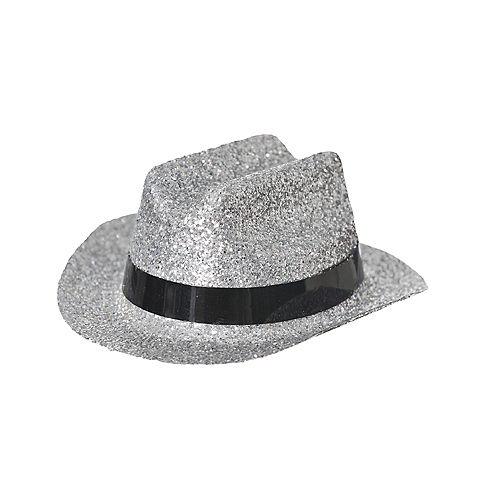 Silver Glitter Mini Cowboy Hat Image #2