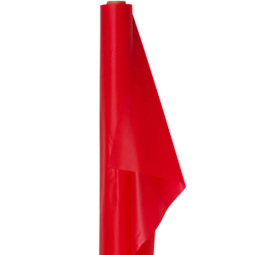 Red Plastic Table Cover Roll Image #1
