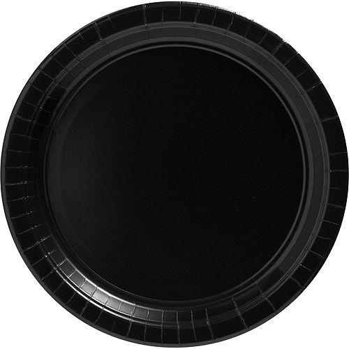 Black Paper Dinner Plates 20ct Image #1