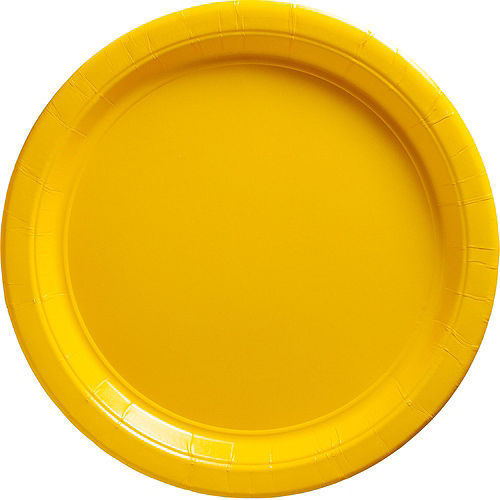 Sunshine Yellow Paper Dinner Plates, 10in, 20ct Image #1