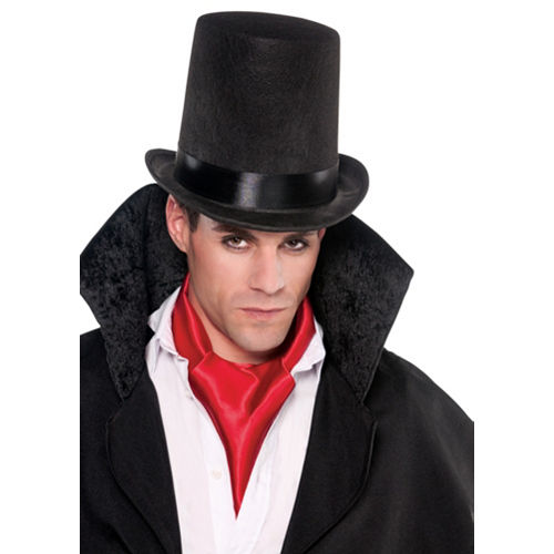 Black Stovepipe Hat Image #3