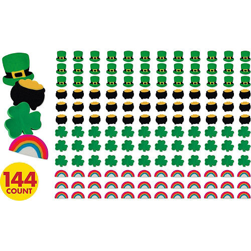 St. Patrick's Day Erasers 144ct Image #1