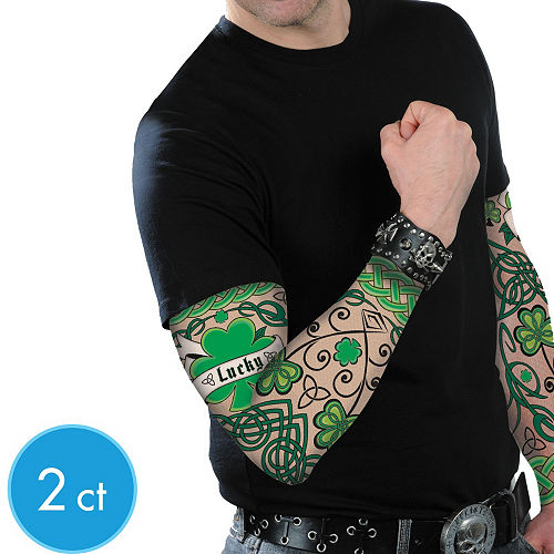 St. Patrick's Day Tattoo Sleeves 2ct Image #1