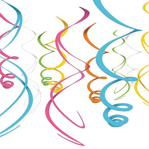 Multicolor Swirl Decorations 12ct Image #1