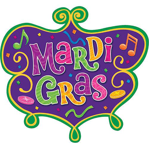 Medium Mardi Gras Cutout Image #1