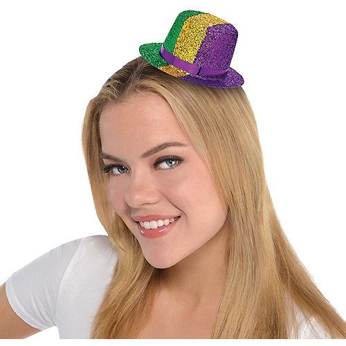 Mini Mardi Gras Top Hat Image #1