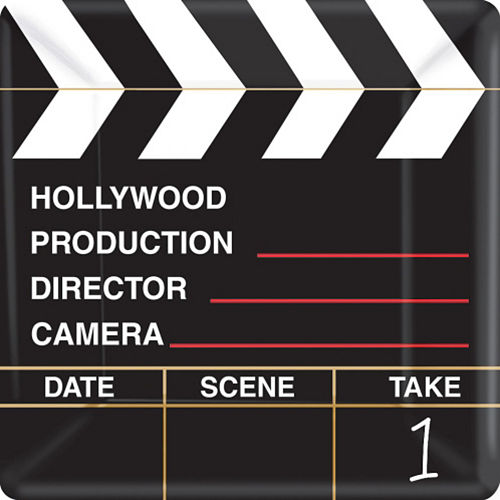 Clapboard Hollywood Dinner Plates 18ct Image #1