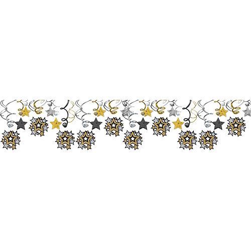 Hollywood Stars Swirl Decorations 30ct Image #1