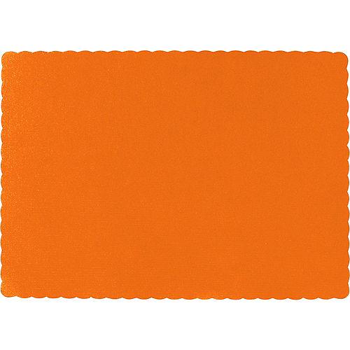 Big Party Pack Orange Paper Placemats 50ct Image #1