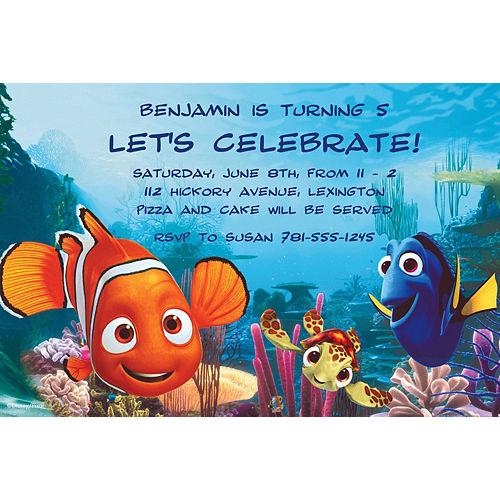 Custom Nemo & Friends Invitations Image #1