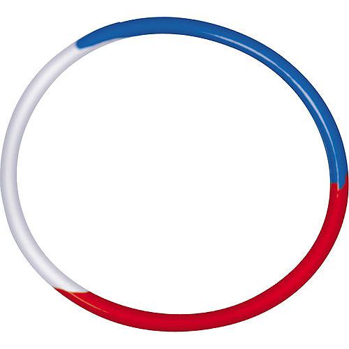 Patriotic Red, White & Blue Rubber Bracelets 16ct Image #2