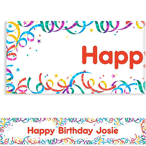 Custom Party Streamers Birthday Banner 6ft Image #1