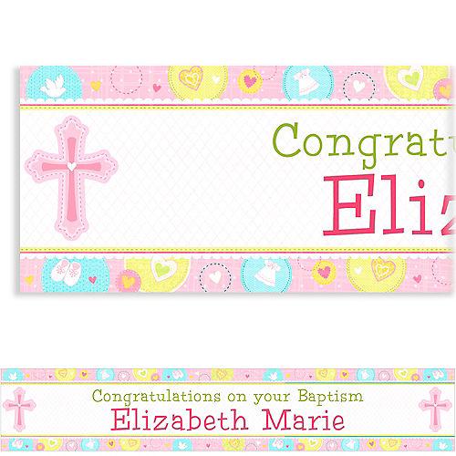 Custom Sweet Christening Girl Banner 6ft Image #1