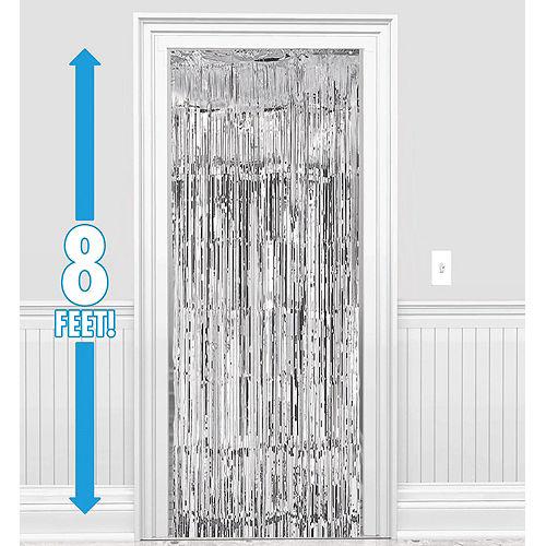 Silver Fringe Doorway Curtain Image #1