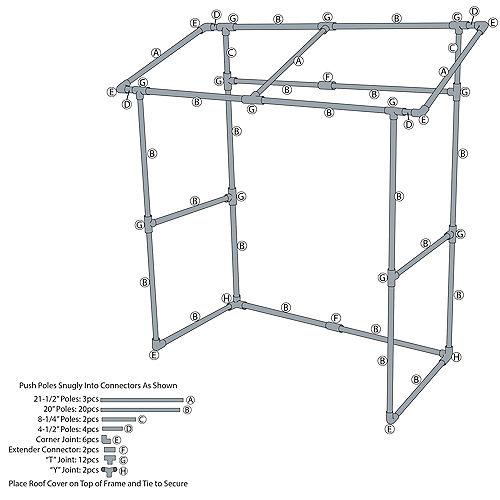 Tabletop Tiki Plastic & Fabric Bar Hut, 53in x 52in Image #2