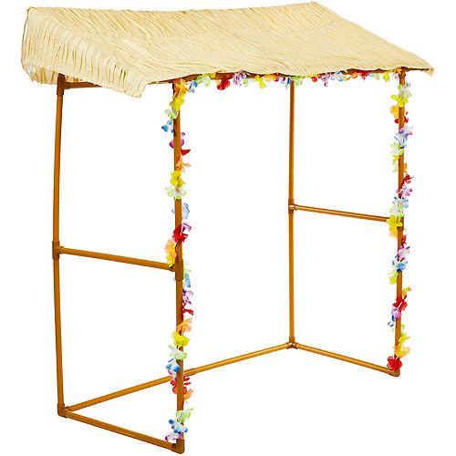 Tabletop Tiki Plastic & Fabric Bar Hut, 53in x 52in Image #3