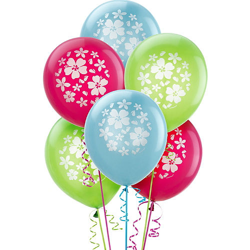 Hibiscus Balloons 15ct Image #1
