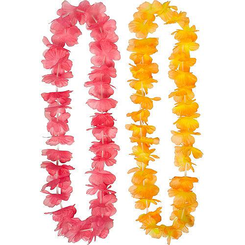 Rainbow Flower Leis 6ct Image #2