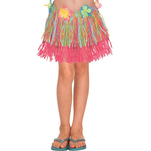 Child Rainbow Hula Skirt Image #1