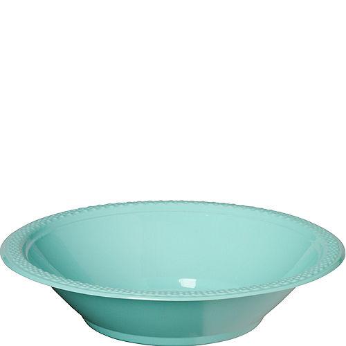 Robin's Egg Blue Plastic Bowls 20ct Image #1