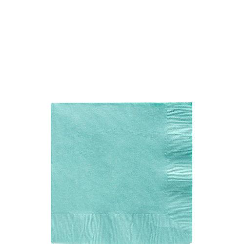 Robin's Egg Blue Paper Beverage Napkins, 5in, 40ct Image #1