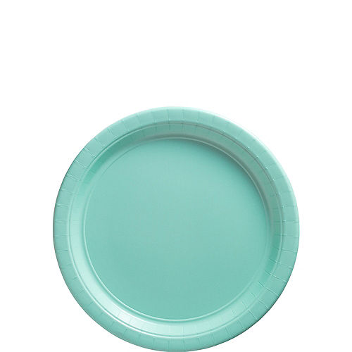 Robin's Egg Blue Paper Dessert Plates, 6.75in, 20ct Image #1