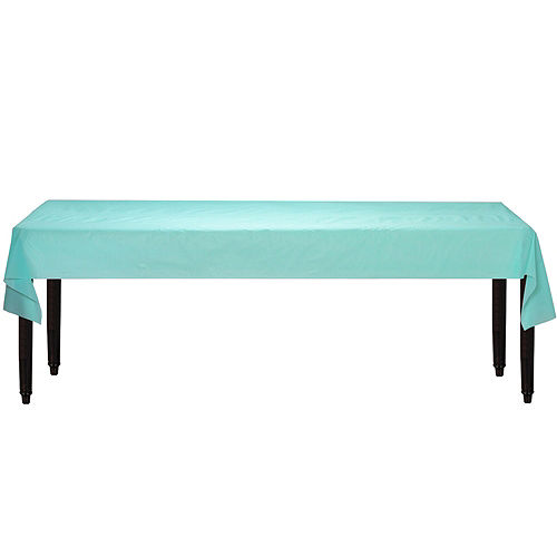 Robin's Egg Blue Plastic Table Cover Roll Image #2