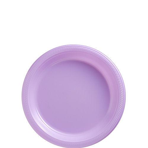 Lavender Plastic Dessert Plates, 7in, 50ct Image #1
