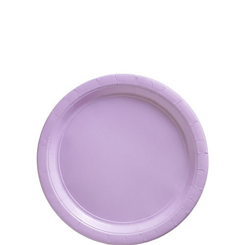 Lavender Paper Dessert Plates, 6.75in, 50ct Image #1