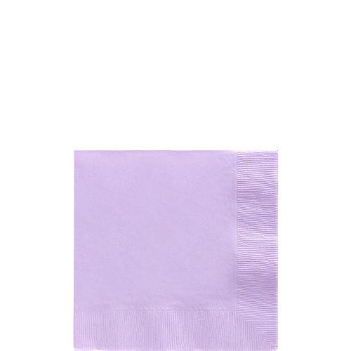 Lavender Paper Beverage Napkins, 5in, 100ct Image #1
