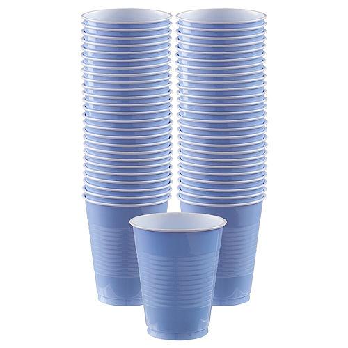 Pastel Blue Plastic Cups, 16oz, 50ct Image #1