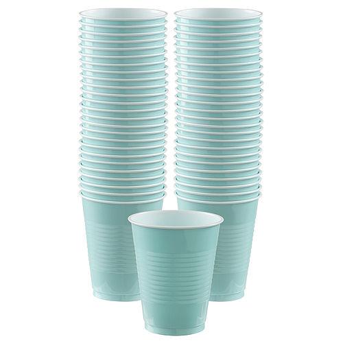 Robin's Egg Blue Plastic Cups, 16oz, 50ct Image #1