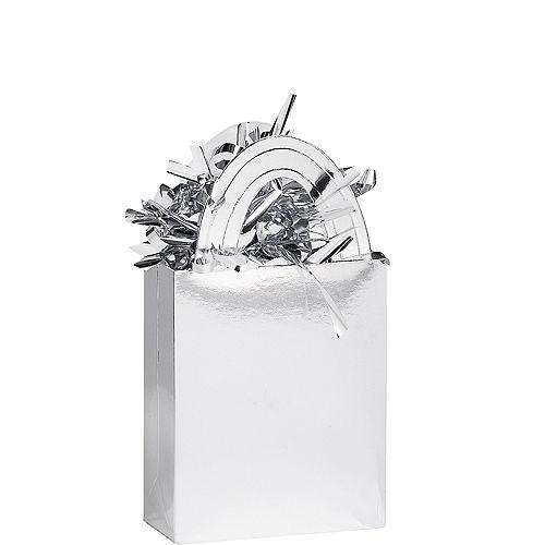 Silver Mini Tote Balloon Weight Image #1