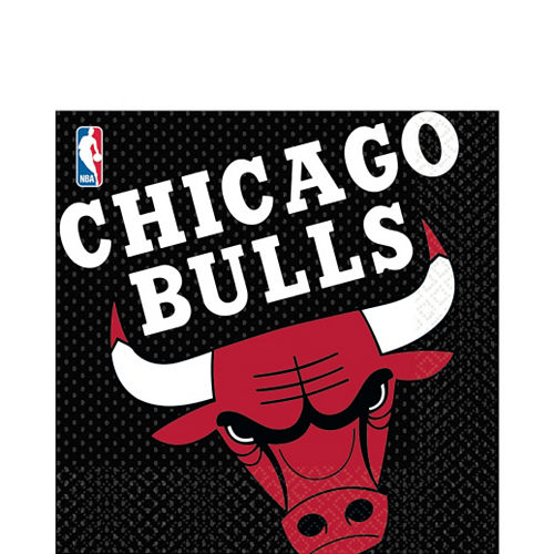 Chicago Bulls Lunch Napkins 16ct Image #1