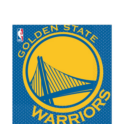 Golden State Warriors Lunch Napkins 16ct Image #1