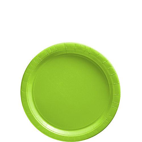 Kiwi Green Paper Dessert Plates, 6.75in, 20ct Image #1