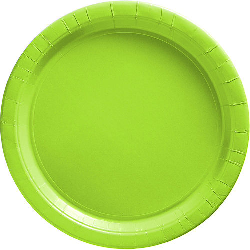 Kiwi Green Paper Dinner Plates, 10in, 20ct Image #1
