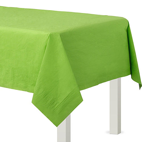 Kiwi Green Paper Table Cover Image #1