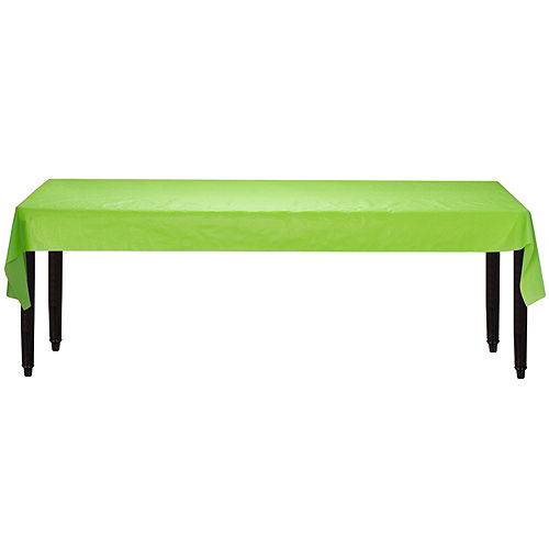Kiwi Green Plastic Table Cover Roll Image #2