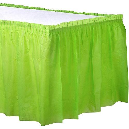 Kiwi Green Plastic Table Skirt Image #1