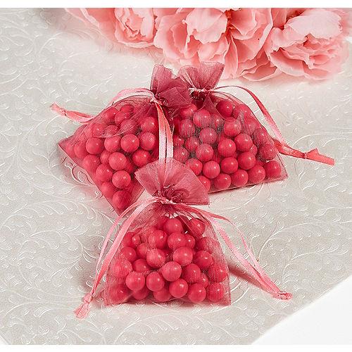 Bright Pink Organza Favor Bags Image #1