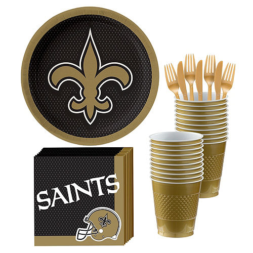 NFL New Orleans Saints Party Kit for 18 Guests Image #1