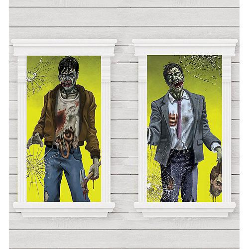 Killer Zombie Window Decorations 2ct Image #1