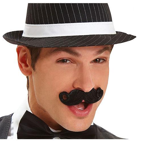 Black Mini Handlebar Moustache Image #1