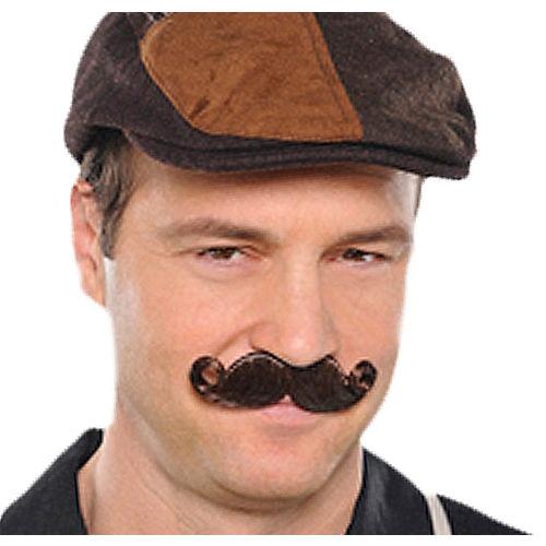 Brown Mini Handlebar Moustache Image #1