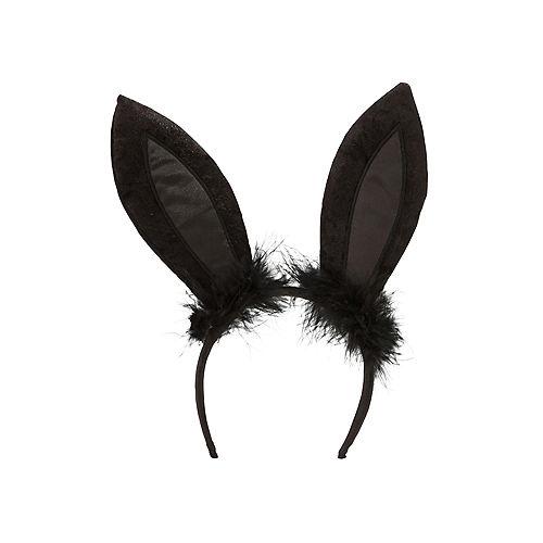Black Marabou Bunny Ears Image #1